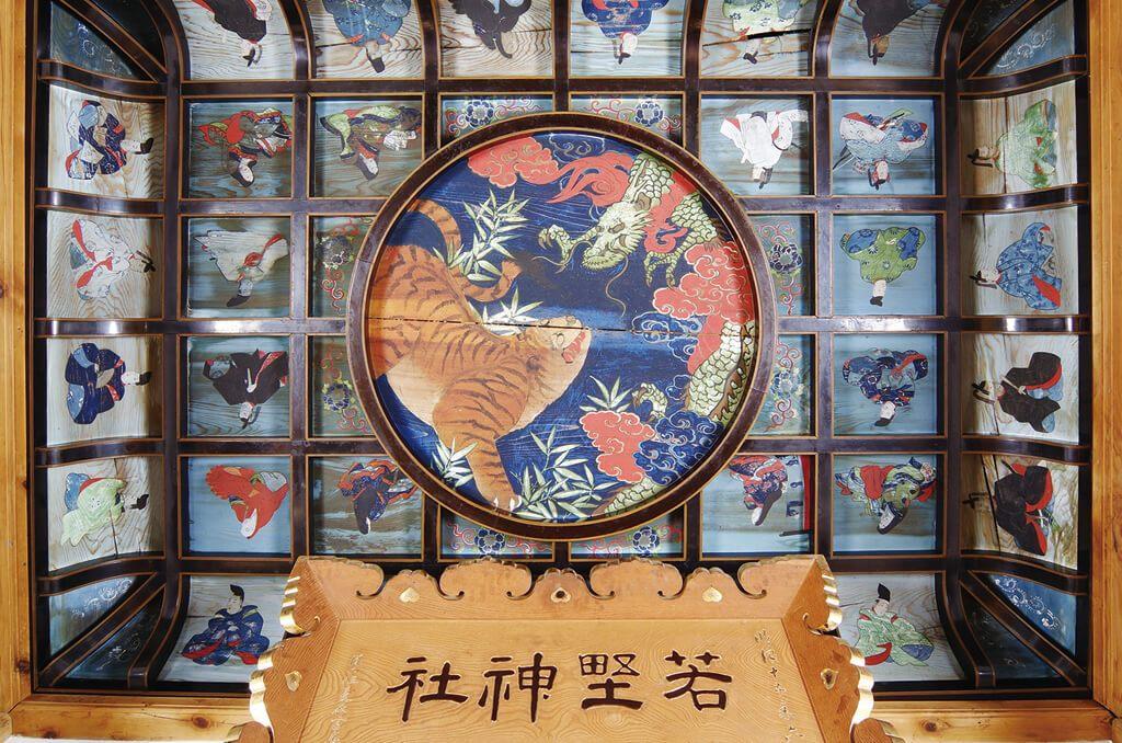 若埜神社の天井絵・絵馬